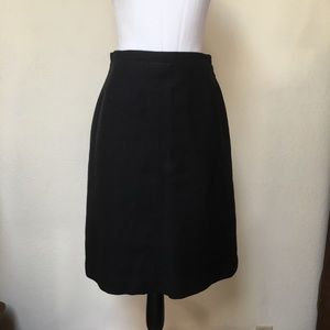 Dresses & Skirts - Vintage Black Wool Skirt A Line Knee Length Sz S